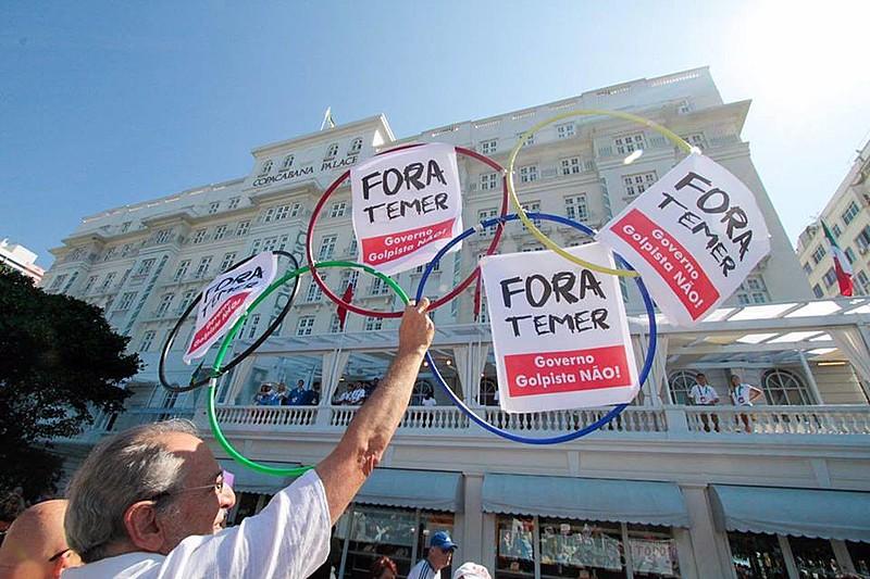 Concentración del acto ocurrió frente al Copacabana Palace