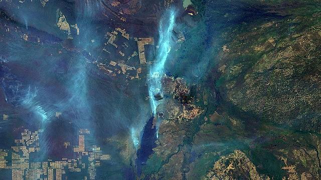 Un satélite muestra huella generada por incendios en el municipio de Corumbá, en Mato Grosso do Sul