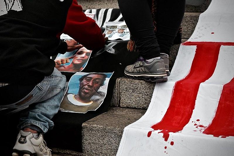 Ato em memória ao catador de recicláveis Ricardo Nascimento, assassinado a queima-roupa pela Polícia Militar no dia 12 de julho