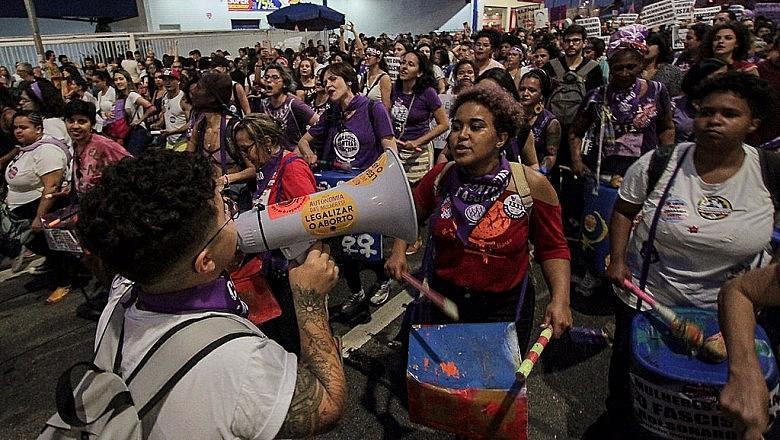 Mulheres se mobilizaram neste 8 de março contra o desmonte da Previdência