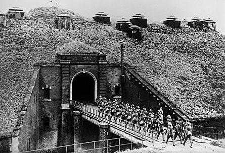 Detalhe de fortificação da Linha Maginot francesa, facilmente contornada pelos nazistas em 1940