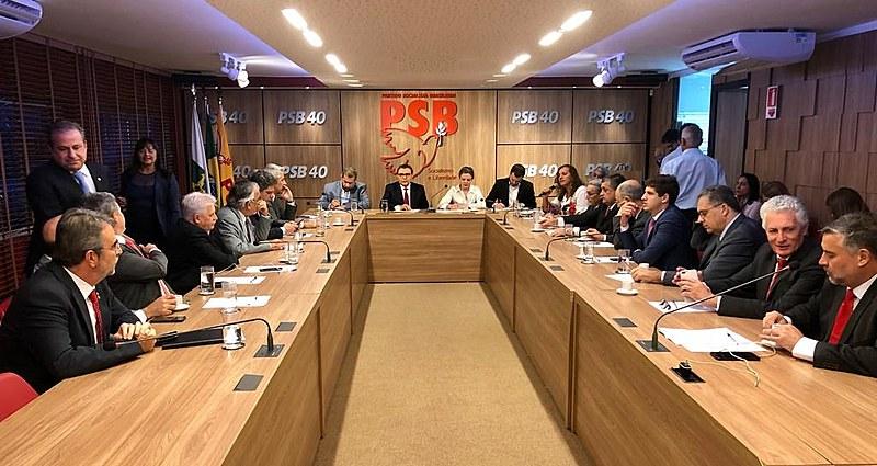 Presidentes de partidos de oposição em reunião com lideranças partidárias em Brasília (DF)