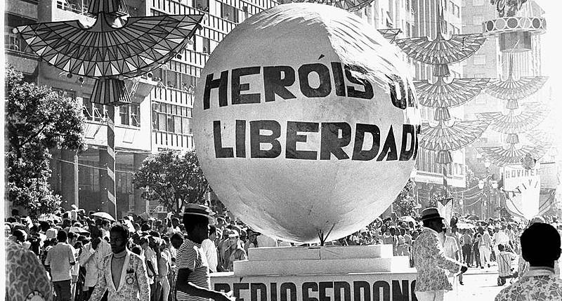 Tradicional escola de Madureira defendeu o samba enredo pouco mais de dois meses após o AI-5
