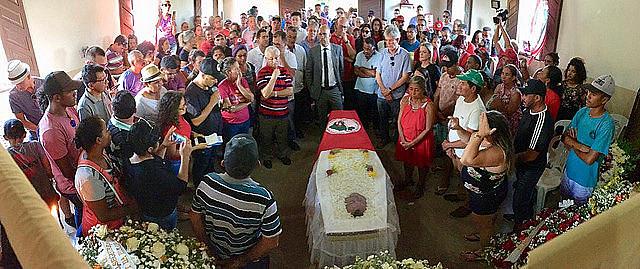 Family, friends, and activists attend José Bernardo da Silva's funeral