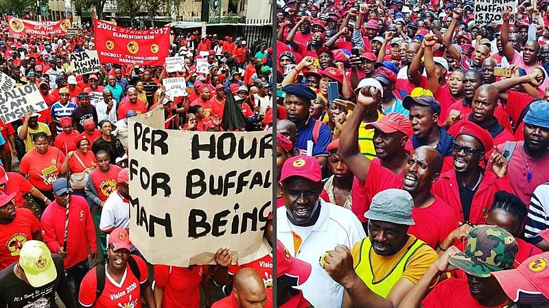 Trabalhadores e trabalhadoras do setor plástico sul-africano protestam contra baixos salários e condições precárias