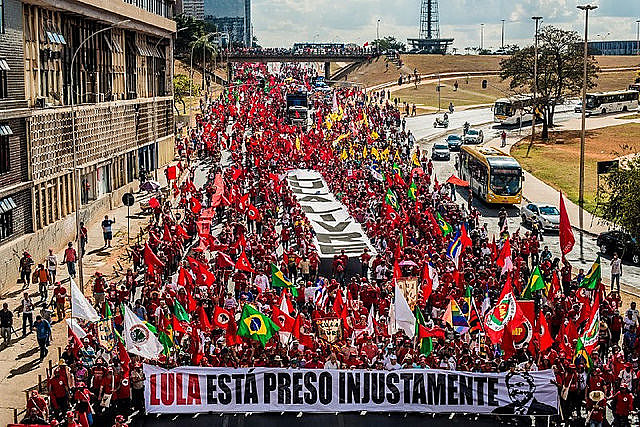 """A lie cannot destroy a 40-50-year relationship with the people,"" said Lula's running mate, Fernando Haddad"