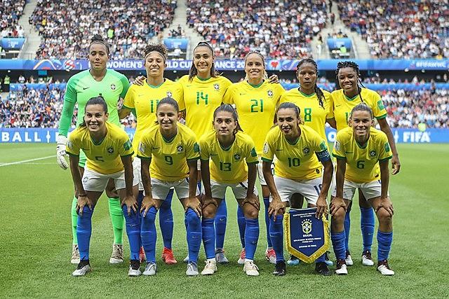 A seleção brasileira participou de todas as edições da Copa do Mundo de Futebol Feminino