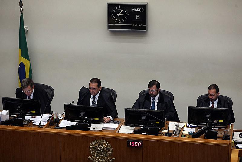 Sessão da Quinta Turma em março de 2018, quando habeas corpus para ex-presidente Lula foi negado