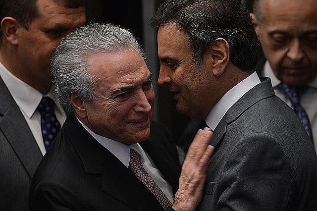 Michel Temer y Aécio Neves están entre los peores políticos evaluados por la población, según la encuesta de Ipsos