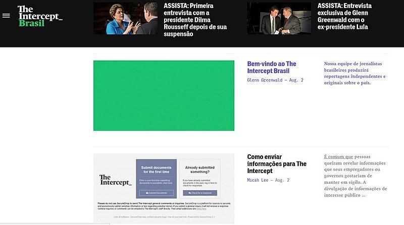 O site possuí plataformas e guias de segurança para que fontes anônimas possam enviar denúncias