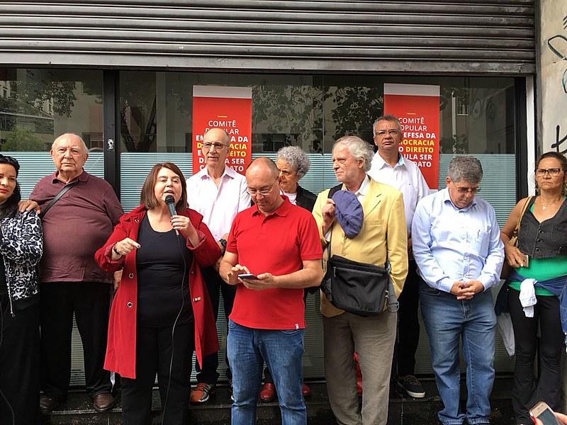 Dirigentes do Partido dos Trabalhadores e artistas lançam Comitê em apoio ao ex-presidente Lula