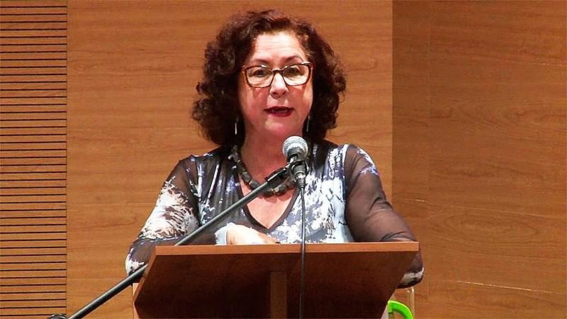 Sonia em debate sobre os sistemas de saúde na América Latina, em outubro de 2017, na ENSP/Fiocruz.