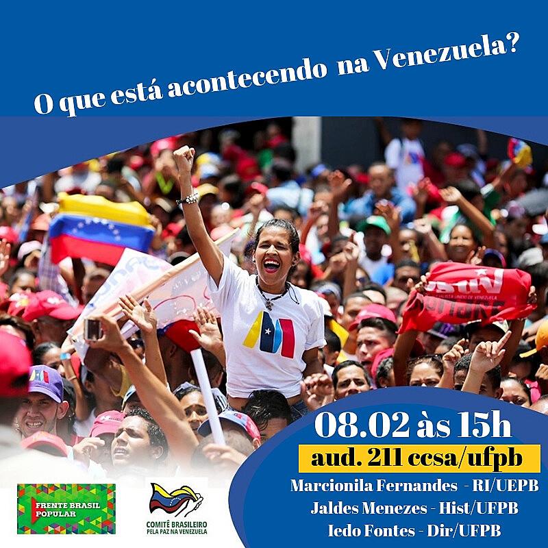 Atos em defesa da Venezuela acontecem nesta sexta (08) em todo o Brasil.
