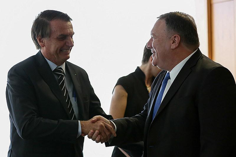 Bolsonaro e Pompeo se encontraram nessa quarta-feira em Brasília, após posse de brasileiro