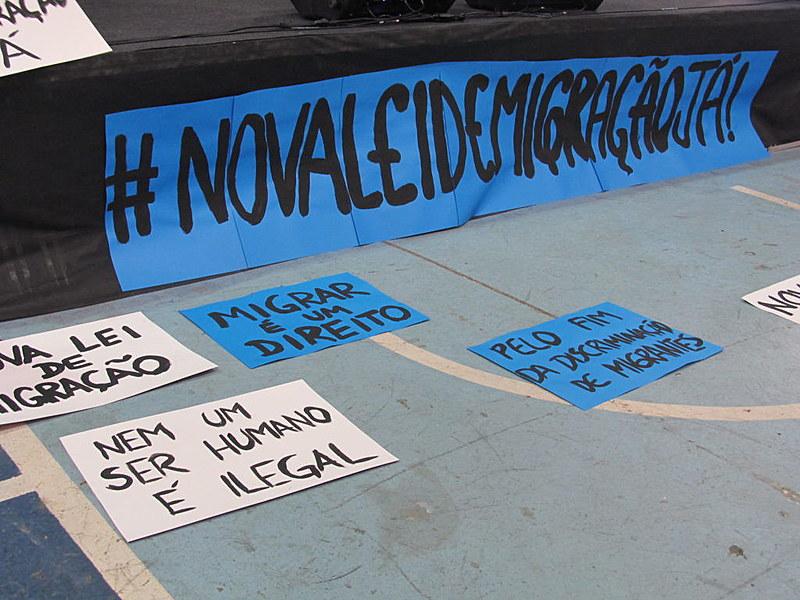 No Fórum Social Mundial de Migrações, campanha lançou ahashtag #NovaLeideMigraçãoJá