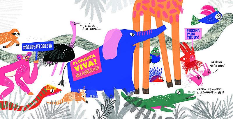 """Ilustração do livro """"A Eleição dos Bichos"""""""