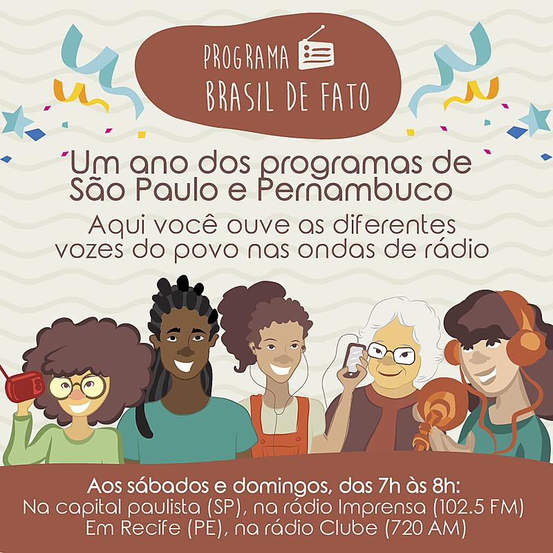 As edições do Brasil de Fato de Pernambuco e de São Paulo comemoram um ano de compartilhamento da visão popular nas ondas sonoras.