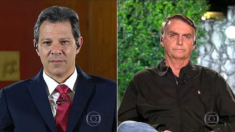 Candidatos participaram de mini entrevista ao vivo no jornal da Rede Globo
