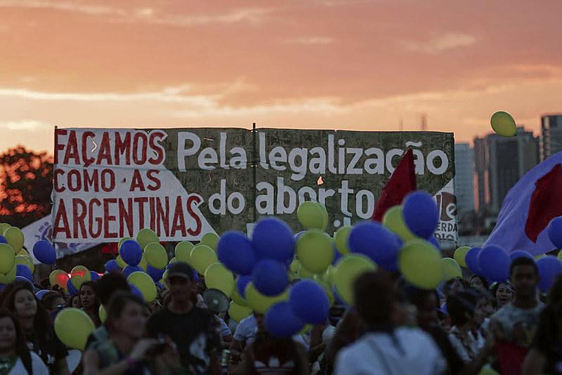 Manifestação de mulheres na capital, Brasília (DF), em agosto de 2018