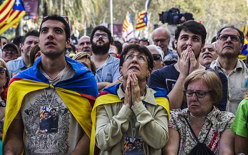 No último dia 27 de outubro, a declaração do Parlamento catalão pela Independência foi aguardada com expectativa pela população local