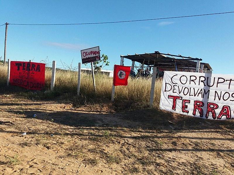 Sem-terra ocupam Perímetro Irrigado Santa Cruz de Apodi, no Rio Grande do Norte