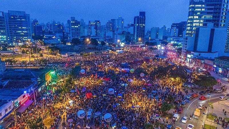 Manifestação das centrais sindicais contra as mudanças trabalhistas e da Previdência no Largo da Batata/ São Paulo (SP)