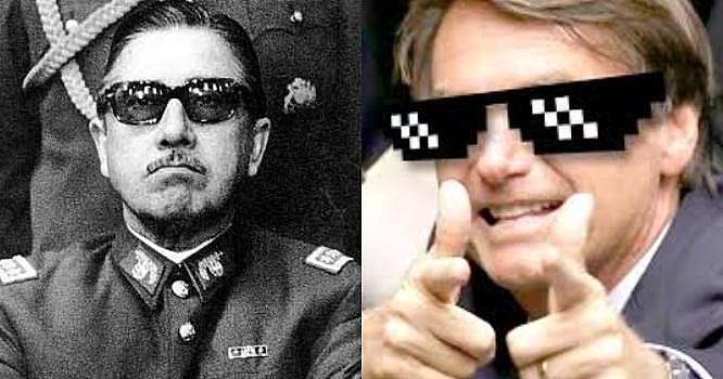 Admirador de Augusto Pinochet, Bolsonaro usará da repressão para avançar com seu programa neoliberal