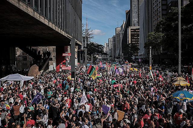 Protesto de 20 de outubro na capital paulista reuniu manifestantes contra o então candidato a presidente Jair Bolsonaro (PSL)