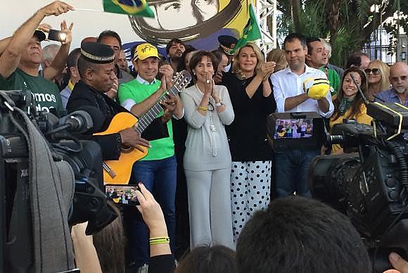O prefeito de São Paulo, João Doria, na inauguração da Praça Ayrton Senna