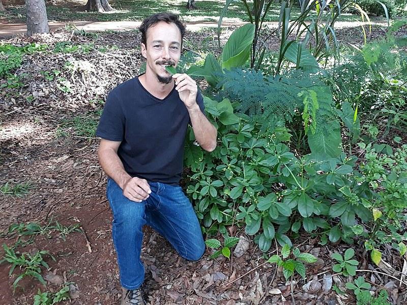 Igor Aveline, geógrafo, foi o idealizador da agrofloresta em uma quadra da capital federal em 2014
