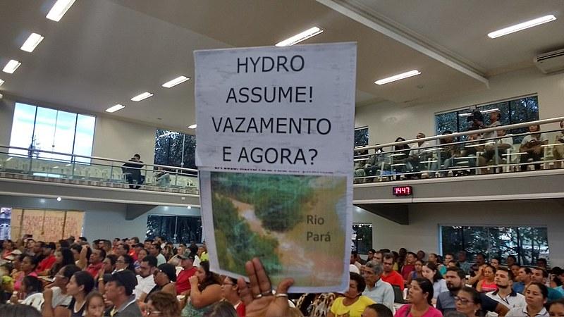 Após um mês do vazamento de rejeitos químicos a empresa Hydro Alunorte admitiu pela primeira vez que descartou água não tratada em rio