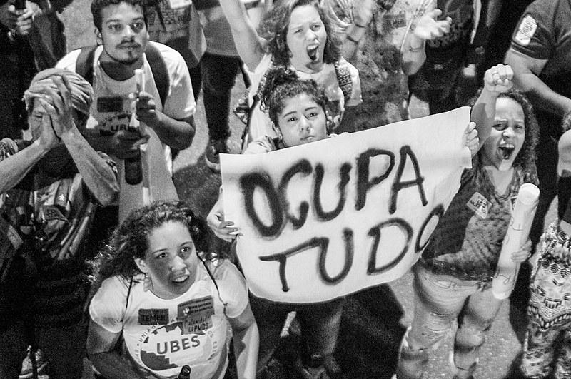 Protesto contra PEC 55 (extinta PEC 241) ocorrido no Rio de Janeiro (RJ), na sexta-feira (25)