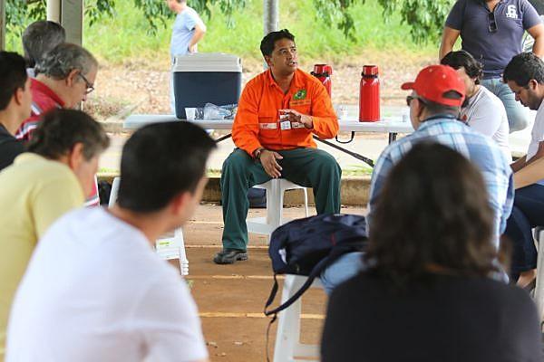 Danilo Silva, representante dos trabalhadores no conselho, esteve em Porto Alegre conversando com petroleiros gaúchos