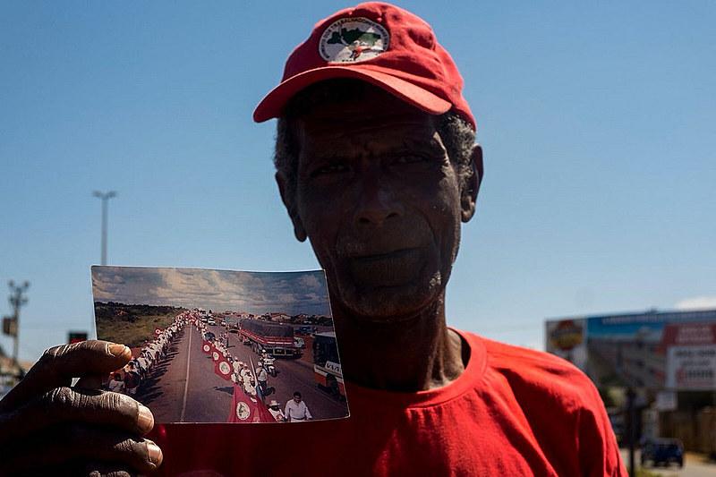 João José Rocha, do Assentamento Orlando Mulina, em Andradina (SP), já participou de seis marchas e há 34 anos milita no MST