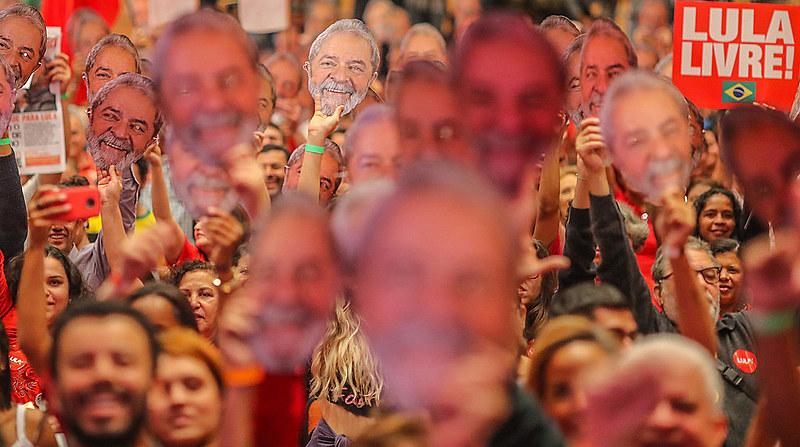 Ato nacional de lançamento da pré-candidatura de Lula a presidente do Brasil no dia 8 de junho, em Contagem, Minas Gerais.