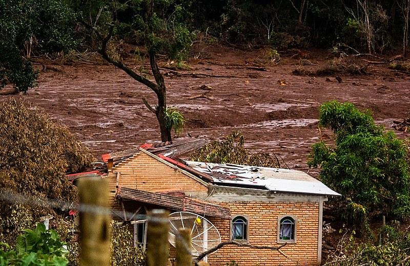 A cidade de Brumadinho, em Minas Gerais, foi coberta por 13 milhões de metros cúbicos de rejeitos