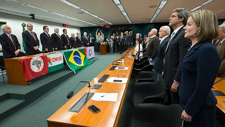 Ato de lançamento da Frente Parlamentar em defesa da Soberania, no Rio de Janeiro