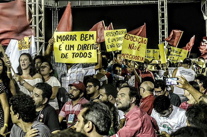 Militantes durante encontro da Coordenação Nacional do MST que ocorreu entre os dias 23 e 27 de fevereiro em Fortaleza (CE)