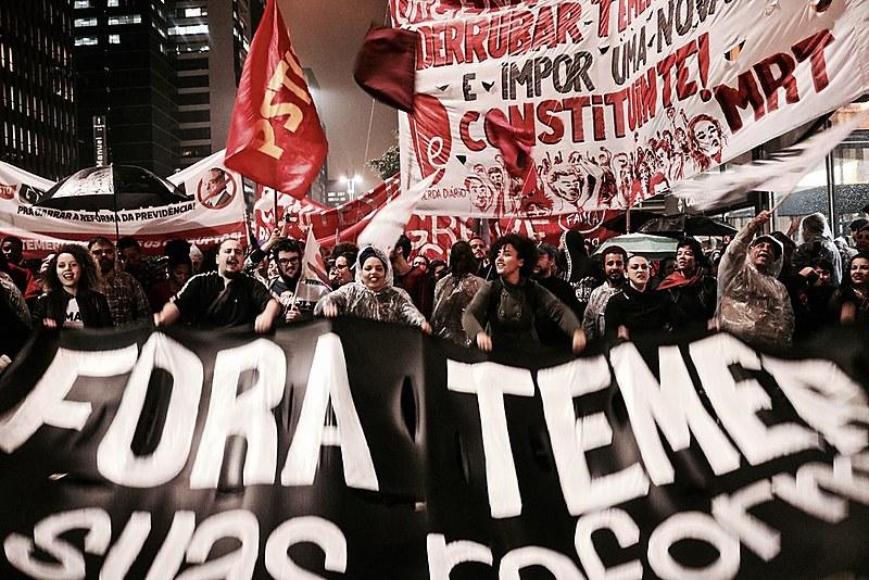 Mobilizações contra os desmontes sociais aprovados durante o governo de Michel Temer
