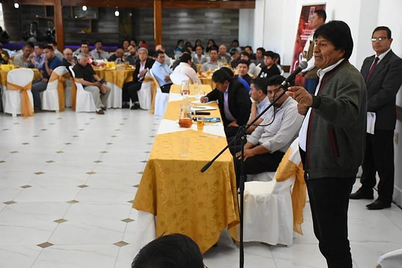 Según Morales, comités con sede en La Paz, Cochabamba y Santa Cruz organizan el golpe