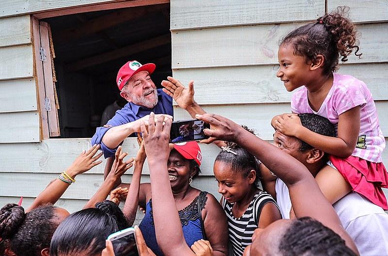 Ex-presidente Lula durante a caravana Lula pelo Brasil, edição nordeste