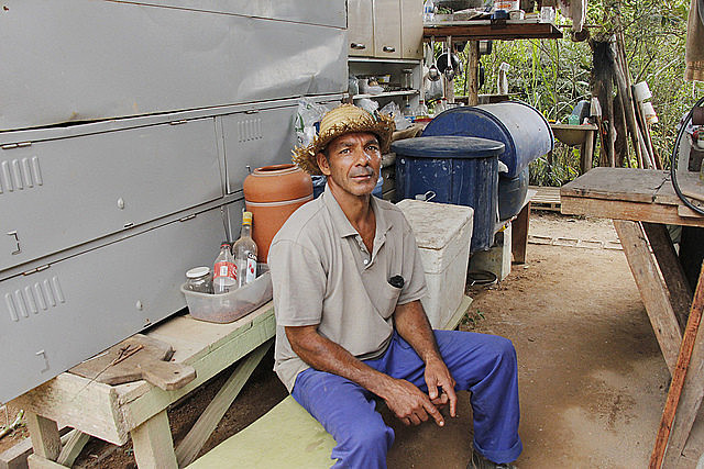 Farmer Lúcio da Silva Pimenta, one of the displaced by Anglo American