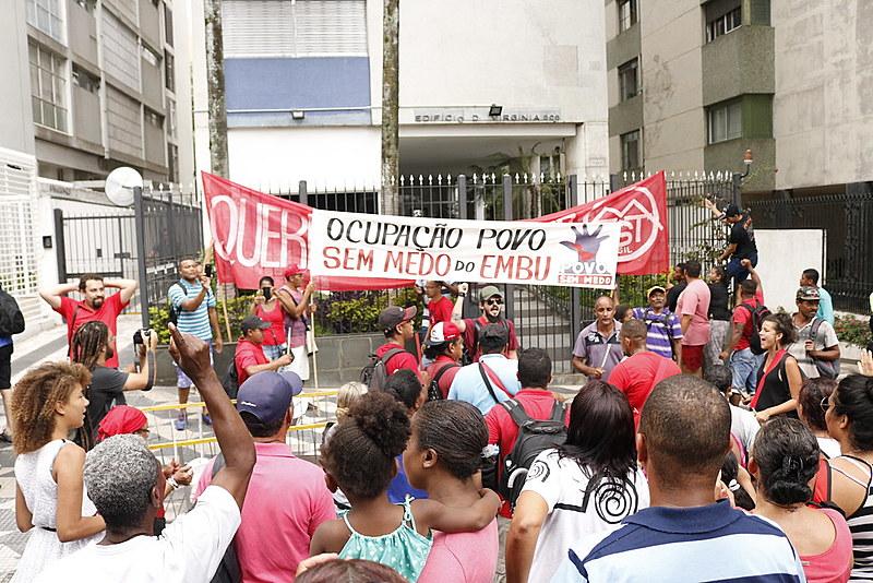 Ato do MTST no dia 12 de janeiro deste ano, contra a reintegração de posse da ocupação de Embu das Artes (SP)