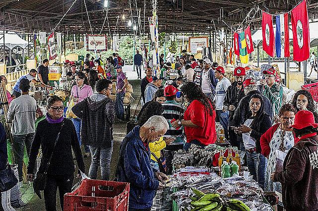 Productores en la tercera Feria de la Reforma Agraria