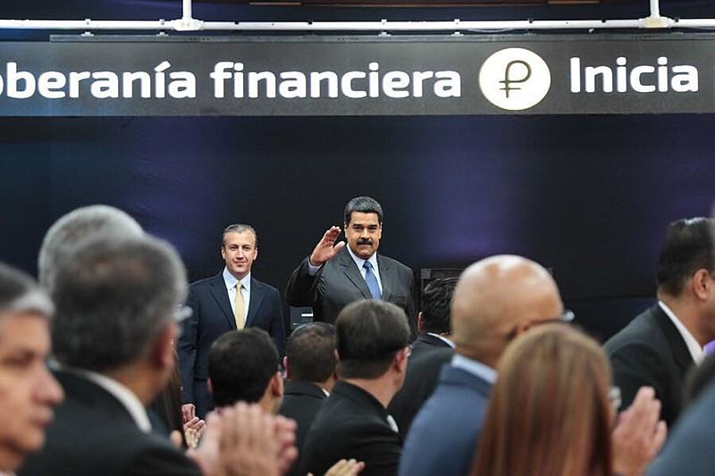 Maduro, durante balanço do primeiro dia do petro: captação de 735 milhões de dólares