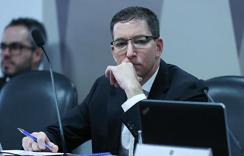"""Glenn é um dos autores da série de reportagens """"Vaza Jato"""", publicada pelo The Intercept Brasil"""