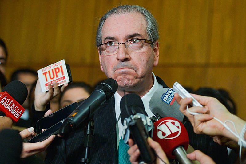 Eduardo Cunha após renunciar à Presidência da Câmara, em julho do ano passado
