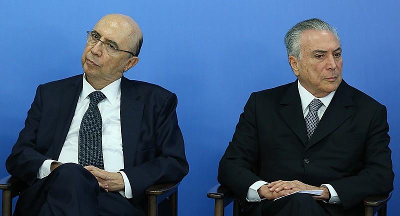 Henrique Meirelles, atual Ministro da Fazenda, e Michel Temer