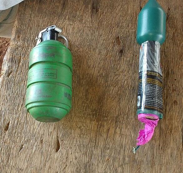Bombas foram encontradas na sede da fazenda e, segundo lideranças, do MST eram usadas contra o acampamento