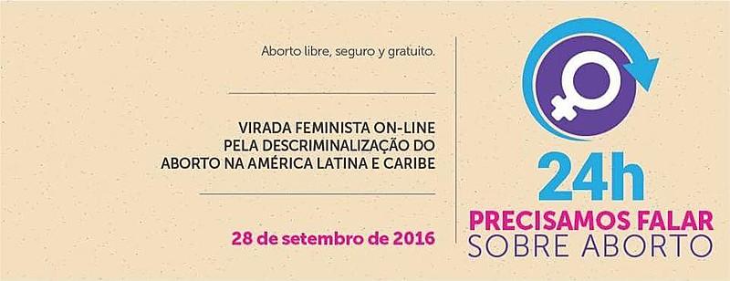 Convocação da Virada Feminista Online, que será realizada nesta quarta-feira (28)